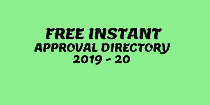 Free Instant Approval Directory