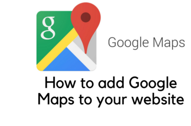 How to add google maps to your site