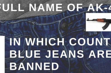 In which country blue jeans are banned