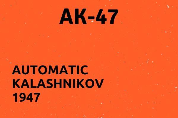 Full name of AK-47