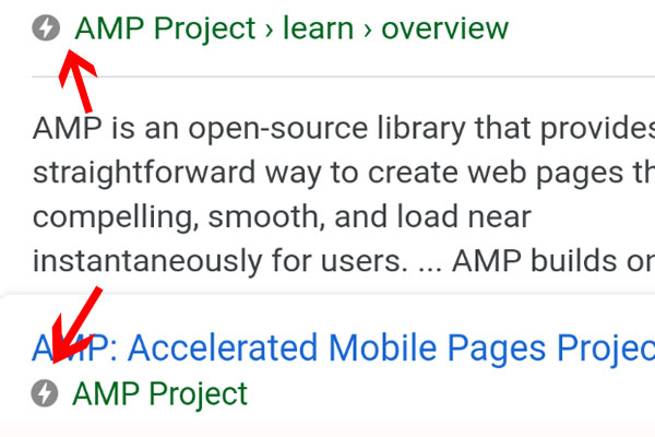 AMP mobile version
