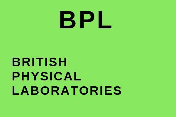 Full name of BPL