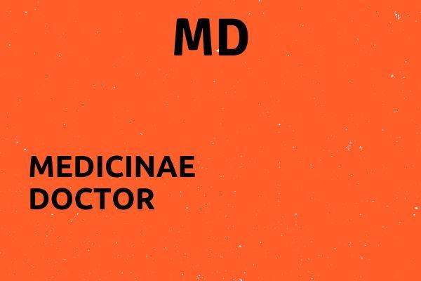 Full name of MD