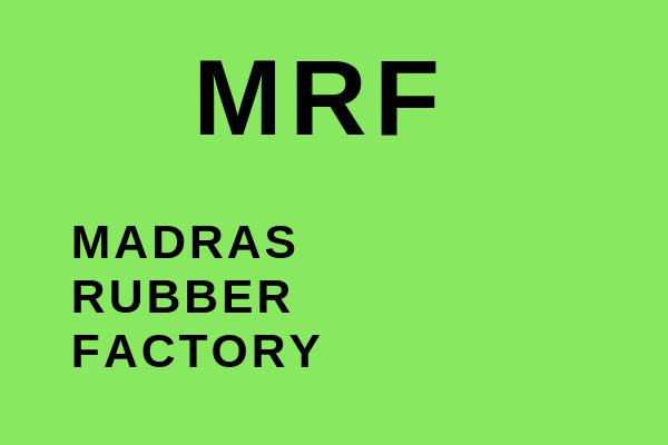 Full name of MRF