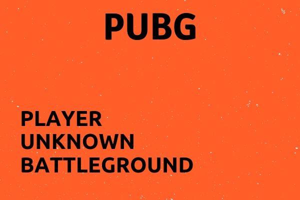 Full name of PUBG