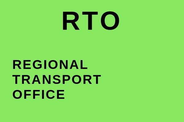 Full name of RTO