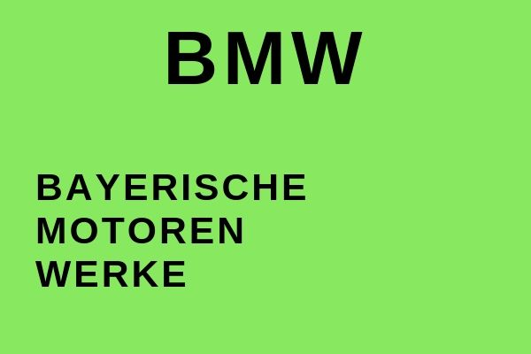Full name of BMW