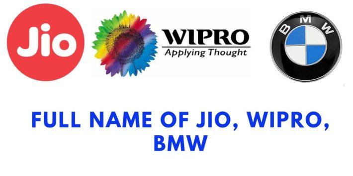 Full name of Jio, bmw