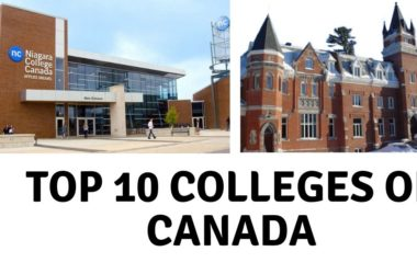 Top 10 colleges of Canada 2019