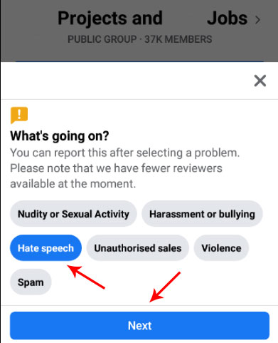 Report a Facebook Group
