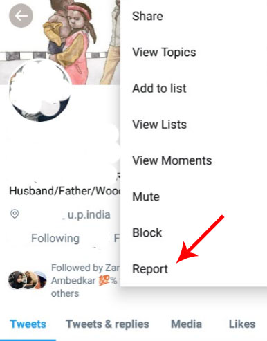 How to report a twitter account